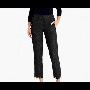 J. Crew black lace pants